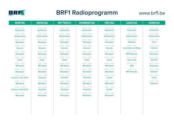 BRF1 Programmraster