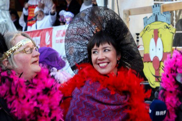 BRF-Journalistin Michaela Brück im Karneval 2018