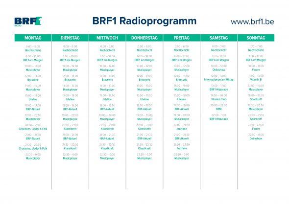 BRF1-Programmübersicht 2018